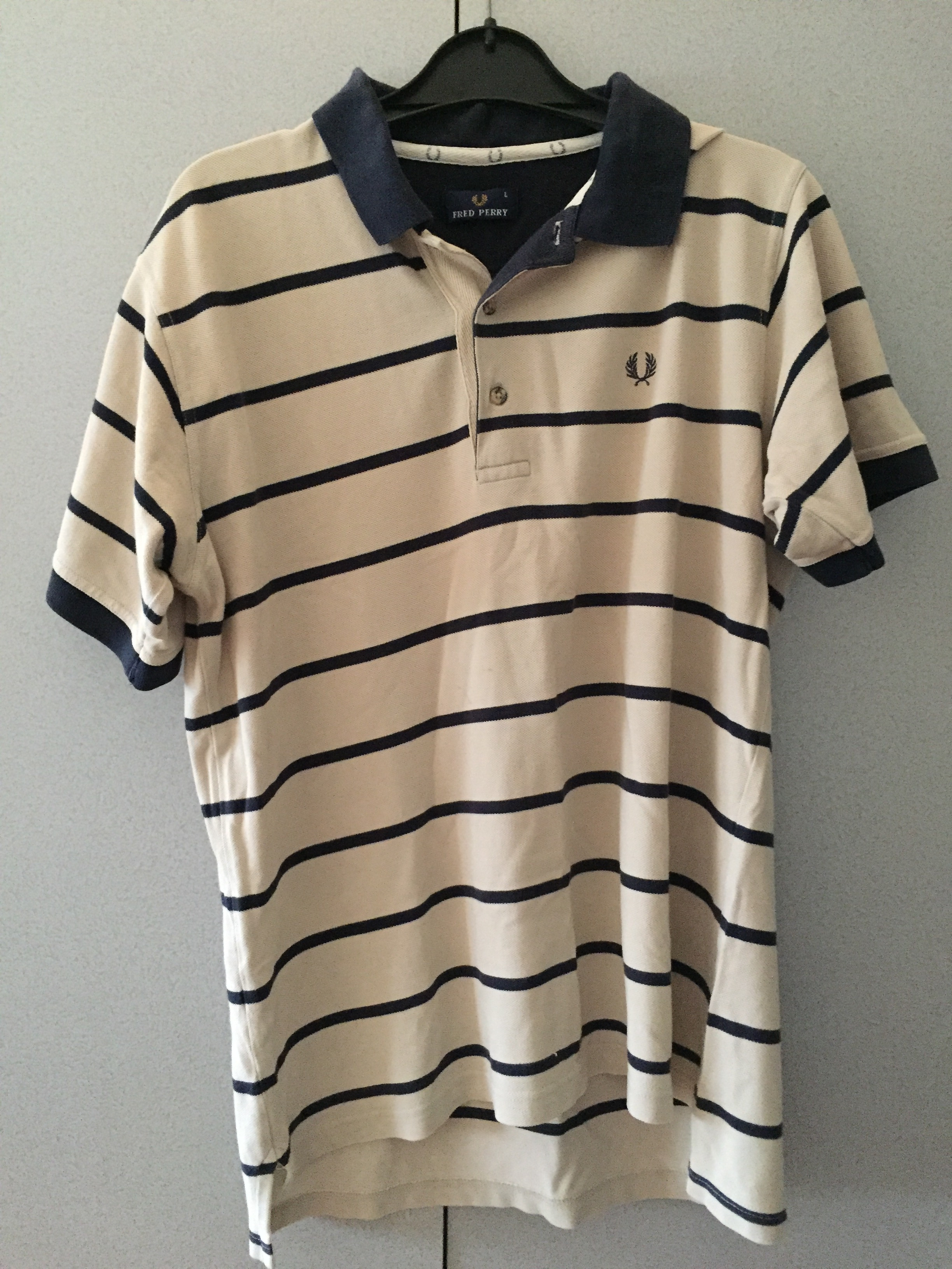 Fred Perry polo, maat l, kleur bruin